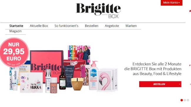 Brigitte Box Onlineshop